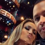 Jennifer Lopez and Aaron Rodriguez at the Oscars