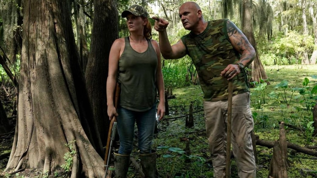 """Ashley Jones """"Che"""" and Ronnie Adams of Swamp People. Pic credit: Alfonso Bresciani/History Channel)"""
