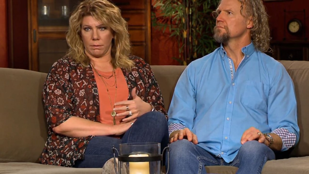 Meri and Kody are having a meeting of the minds on Sister Wives. Pic credit: TLC