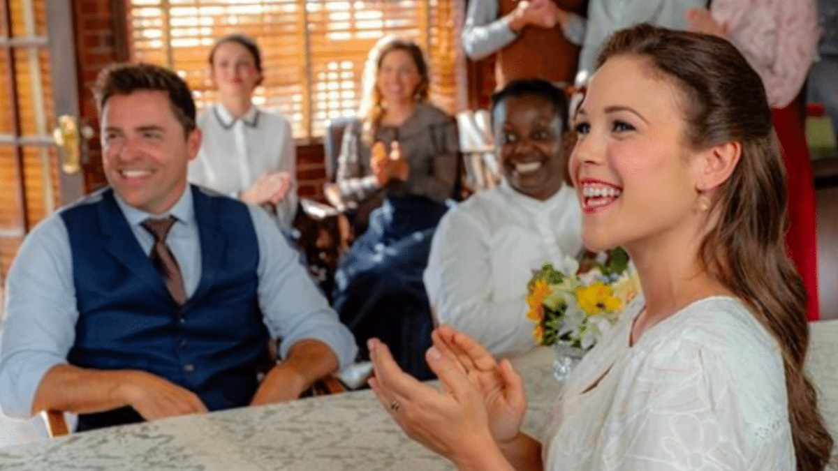 Elizabeth and Lee, Season 6 Episode 3 of When Calls the Heart. Pic credit: Hallmark Channel
