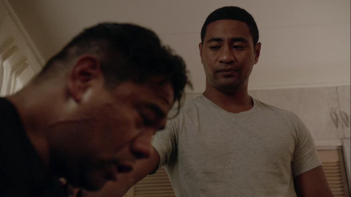 Junior finds Natano drinking in Maya's old bedroom on Hawaii Five-0