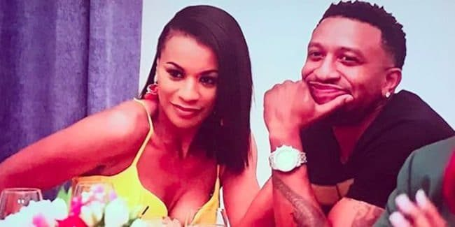 Yovanna Logan and her husband on the set of The Real Housewives of Atlanta