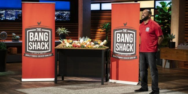 Jason Hadley pitches The Bang Shack on Shark Tank