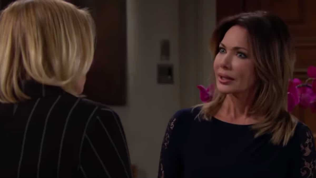 Hunter Tylo and Katherine Kelly Lang as Taylor and Brooke on The Bold and the Beautiful