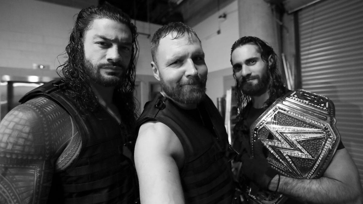 Dean Ambrose, Roman Reigns and Seth Rollins on their final night as The Shield