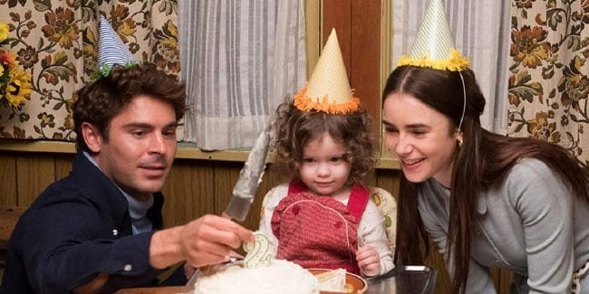 Zac Efron, and Lily Collins in Extremely Wicked, Shockingly Evil and Vile