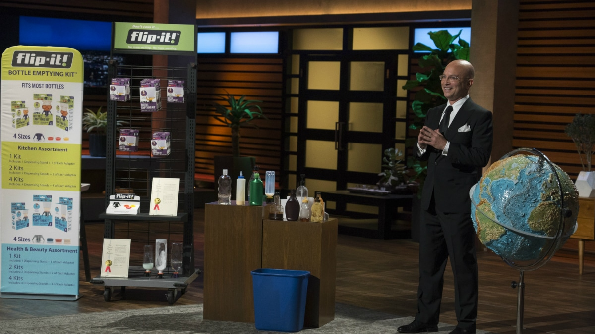 Steven Epstein presents Flip-It Caps on Shark Tank