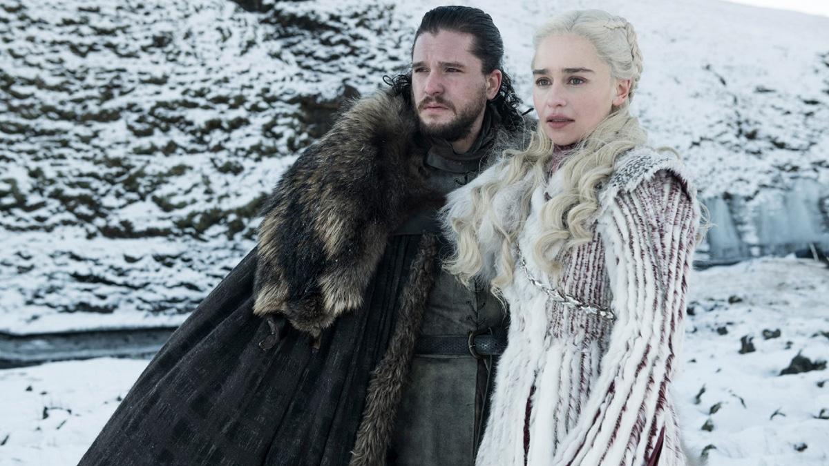 Jon Snow and Daenerys Targaryen on Game of Thrones