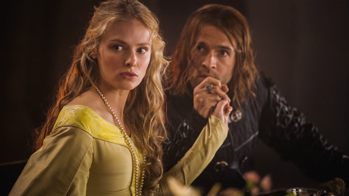 History Channel's 'Knightfall' Season 2, Episode 4, Equal Before God, Clementine Nicholson as Princess Margaret and Tom Forbes as Prince Louis