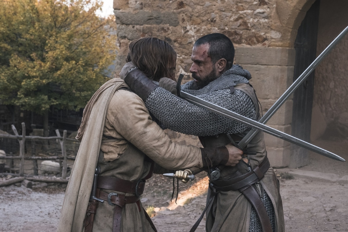 History Channel's 'Knightfall,' Season 2, Episode 5, Road To Chartres, Tom Forbes as Prince Louis and Tom Cullen as Landry