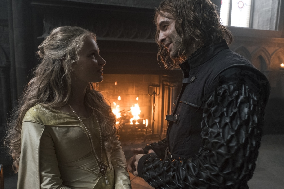 History Channel's 'Knightfall,' Season 2, Episode 5, Road To Chartres, Clementine Nicholson as Princess Margaret and Tom Forbes as Prince Louis