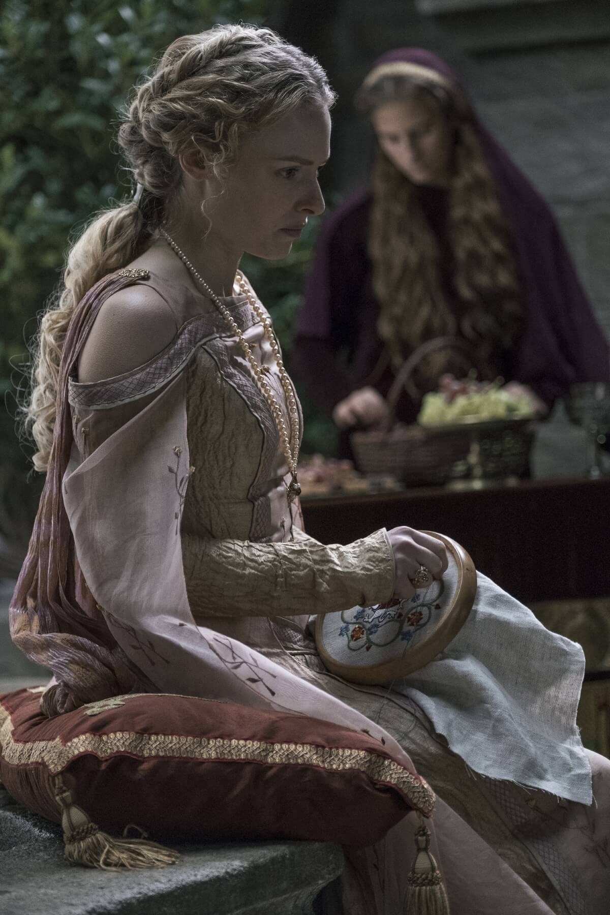 History Channel's 'Knightfall,' Season 2, Episode 6, Blood Drenched Stone, Clementine Nicholson stars as Princess Margaret