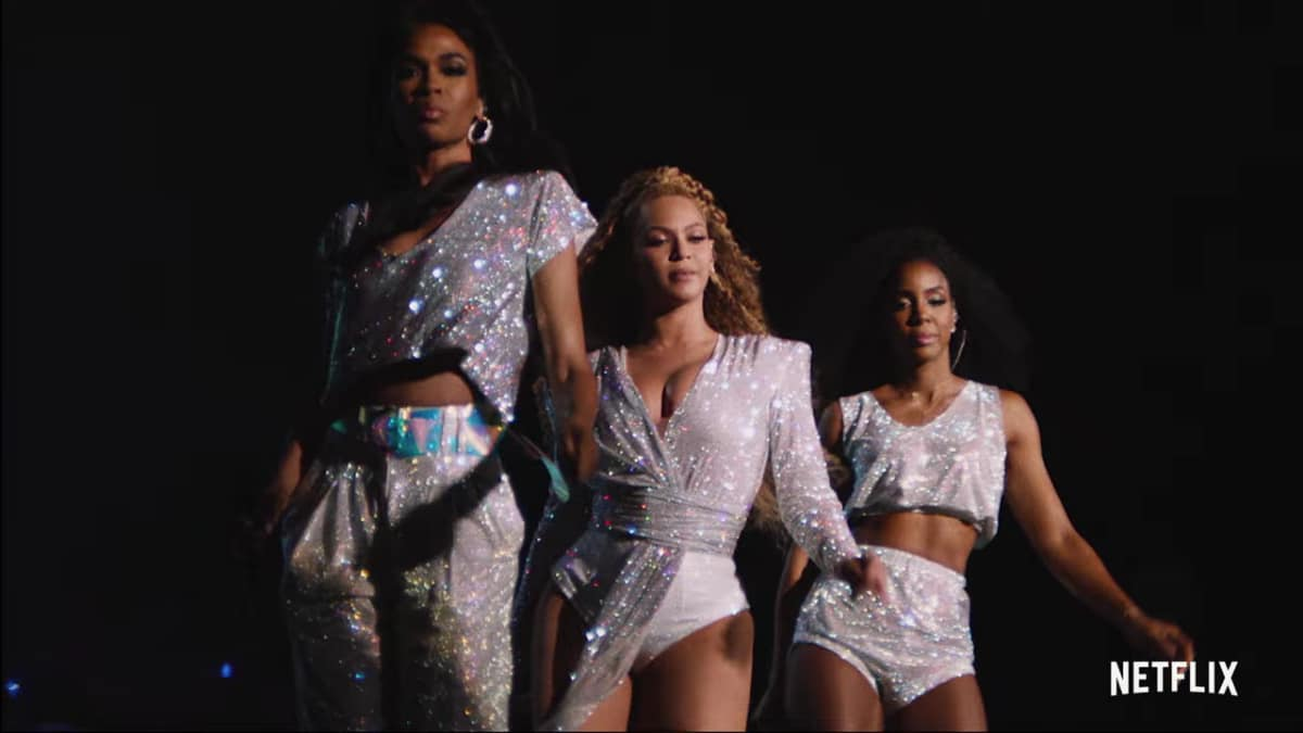 Destiny's Child members Michelle Williams, Beyonce Knowles and Kelly Rowland