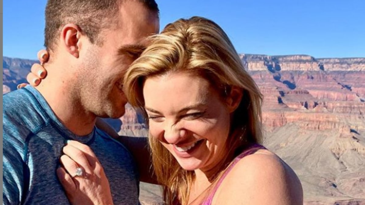 Jon Francetic and Dr. Jessica Griffin's engagement at the Grand Canyon