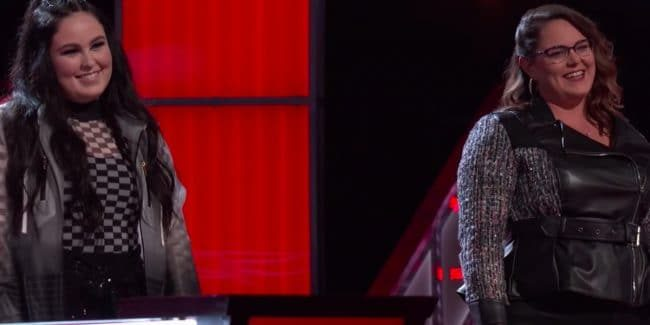 Kim Cherry and Kendra Checketts battle it off on The Voice