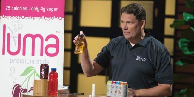 Jim Otteson pitches Luma soda on Shark Tank