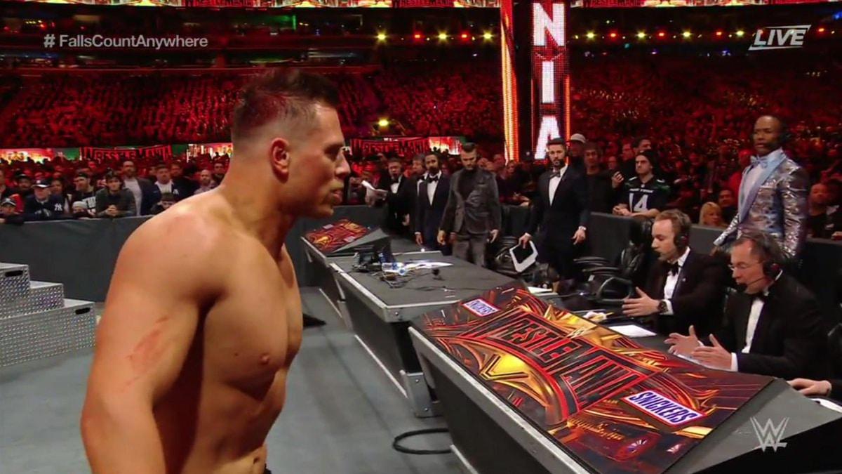 The Miz hurt in WrestleMania 35