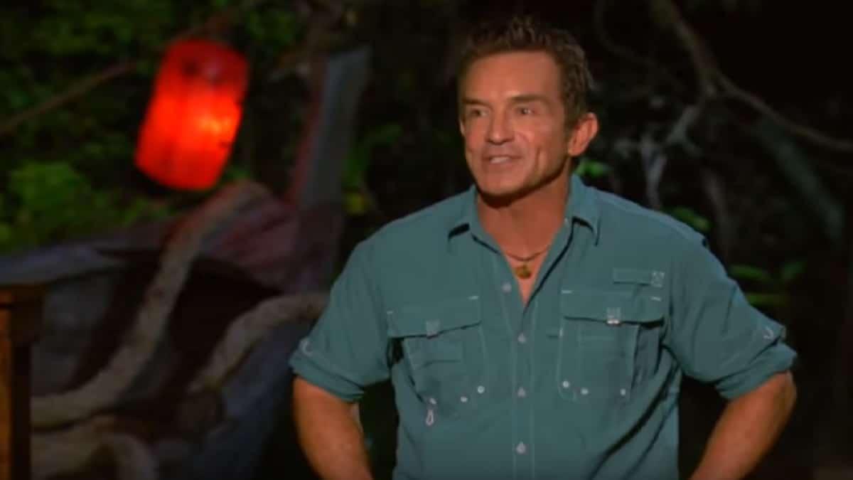 Host Jeff Probst during Survivor 38, episode 9