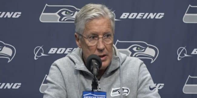 Seattle Seahawks head coach Pete Carroll.