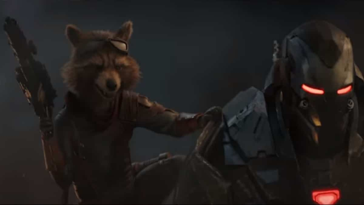 Rocket and War Machine in Avengers: Endgame.