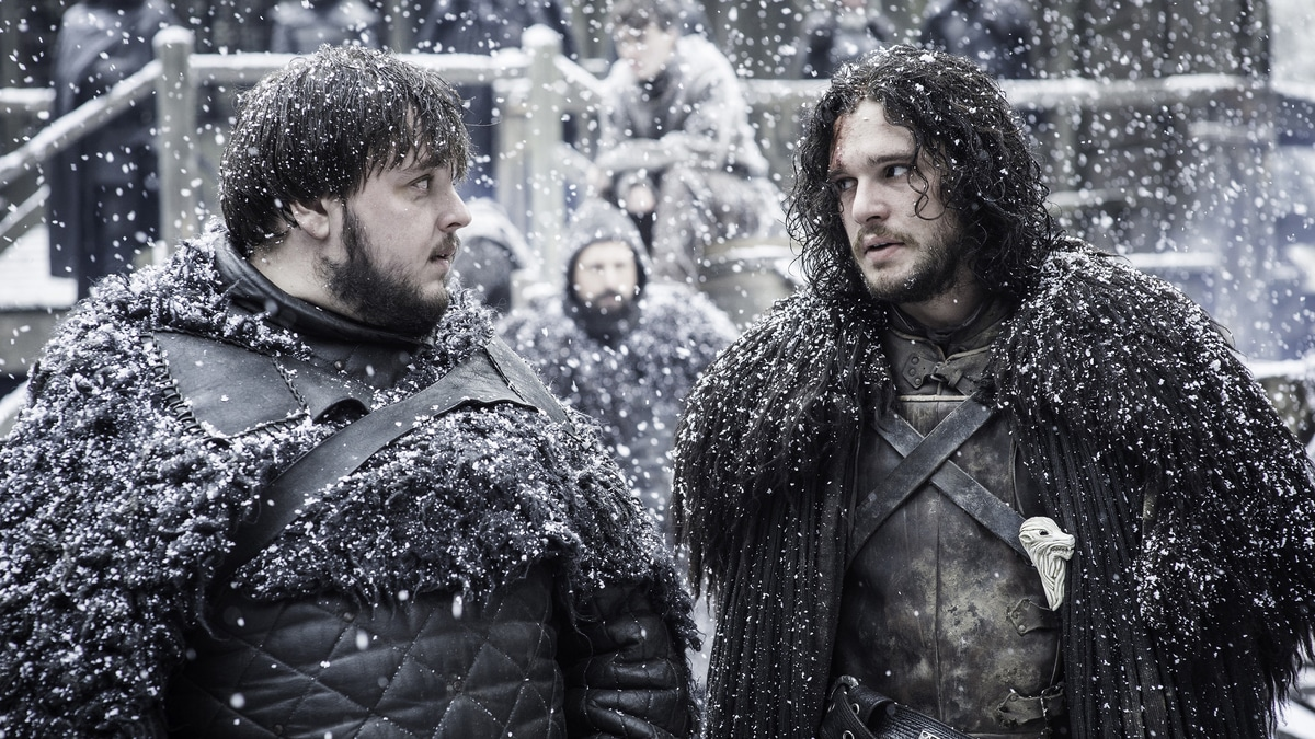 Samwell Tarly and Aegon Targaryen Jon Snow
