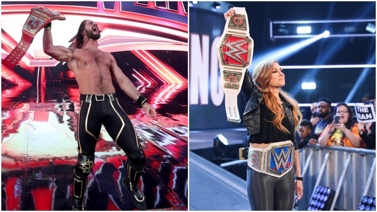 WWE champions Seth Rollins and Becky Lynch