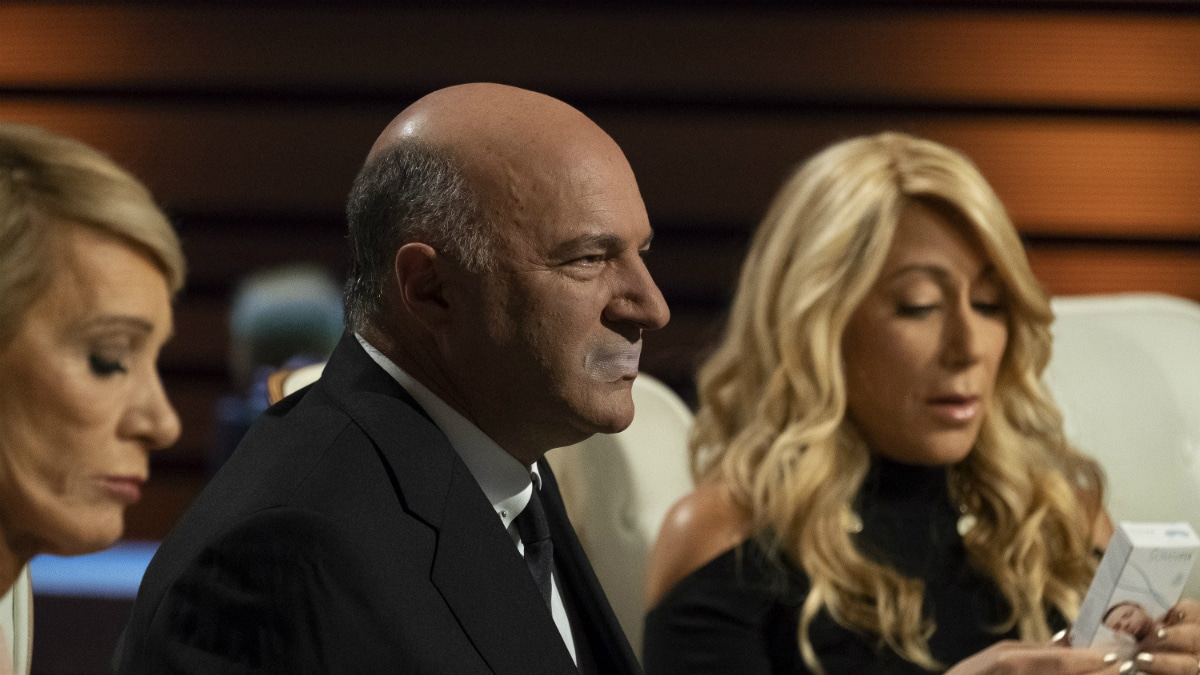 Kevin O'Leary tries a SomniFix sleeping strip on Shark Tank