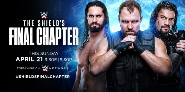 WWE announces the final match for The Shield before Dean Ambrose leaves, will air it Sunday night