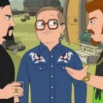 Julian, Bubbles and Ricky on Trailer Park Boys: The Animated Series