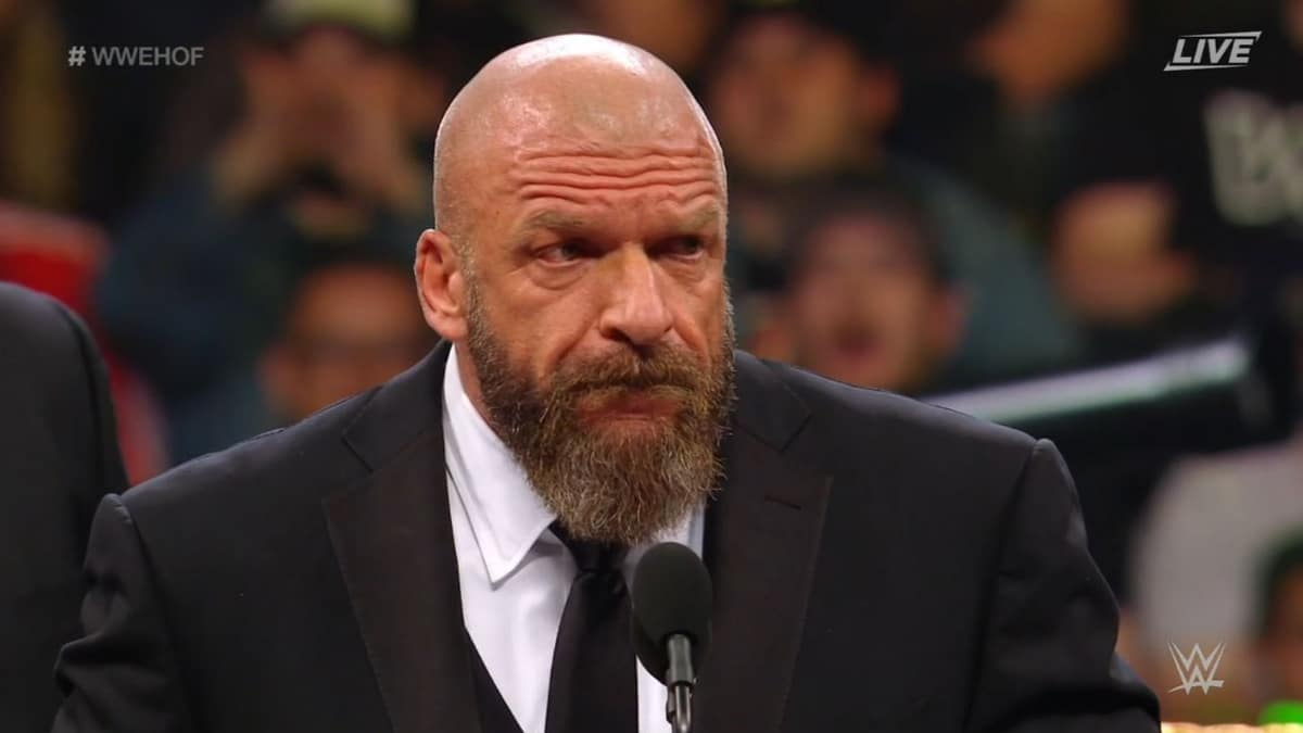 Triple H makes fun of AEW wrestling during his WWE Hall of Fame speech