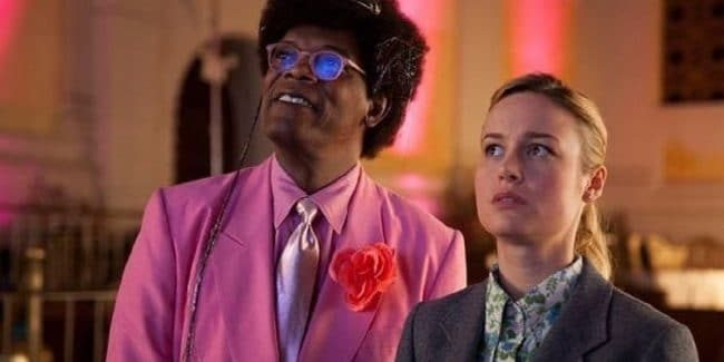 Samuel L. Jackson and Brie Larson in Unicorn Store