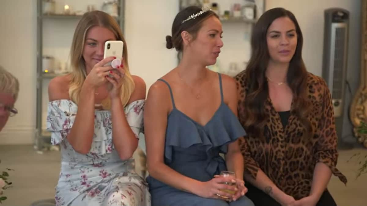 Stassi, Kristen, and Katie wedding dress shopping with Brittany on Vanderpump Rules.