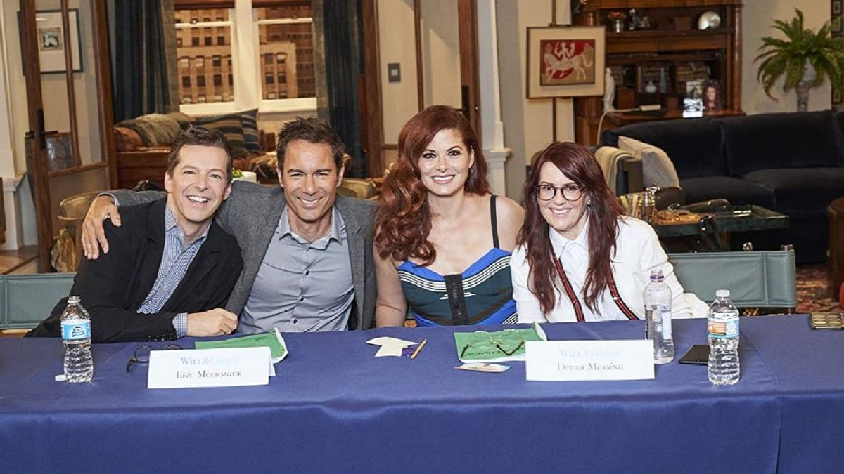 Sean Hayes, Debra Messing, Eric McCormack and Megan Mullally in Will & Grace