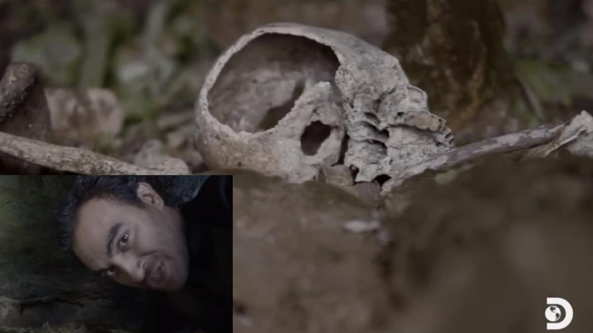 Ramy enters an undisturbed tomb of seven skeletons in Peru