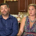 Holly and husband-to-be on Bridezillas