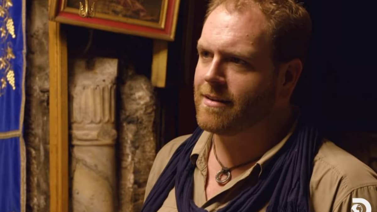 Josh Gates is standing about the site where the Christ was born according to scholars. Pic credit: Discovery