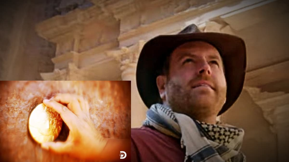 Josh Gates plays with the immortals and vanishes in the Gates of the Gods. Pic credit: Discovery