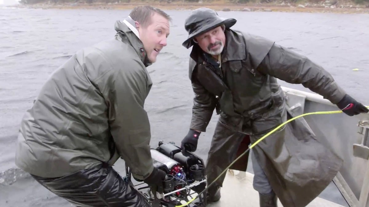 Matty Blake and Tony Sampson with ROV