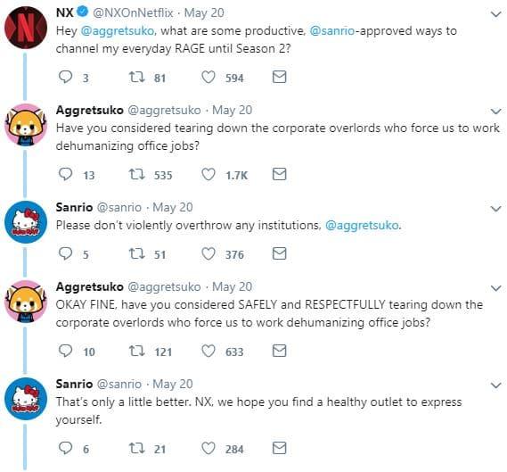 Aggretsuko Sanrio Netflix Twitter Conversation