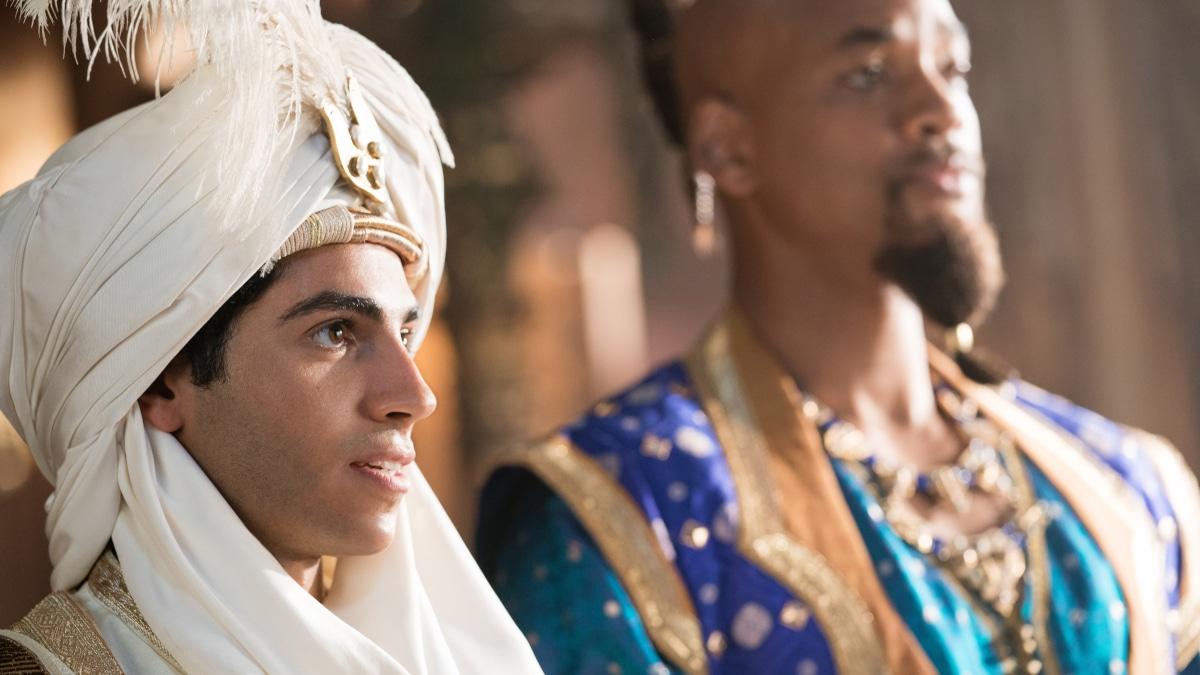Mana Massoud and Will Smith in Aladdin