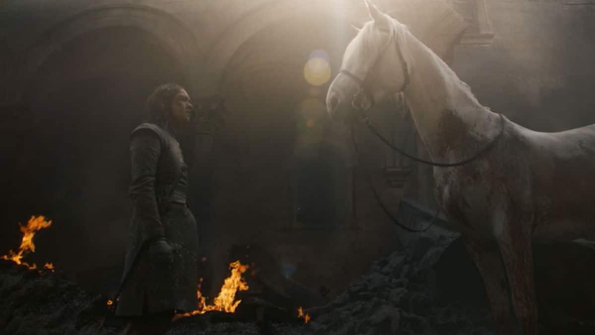 Arya Stark and white pale horse