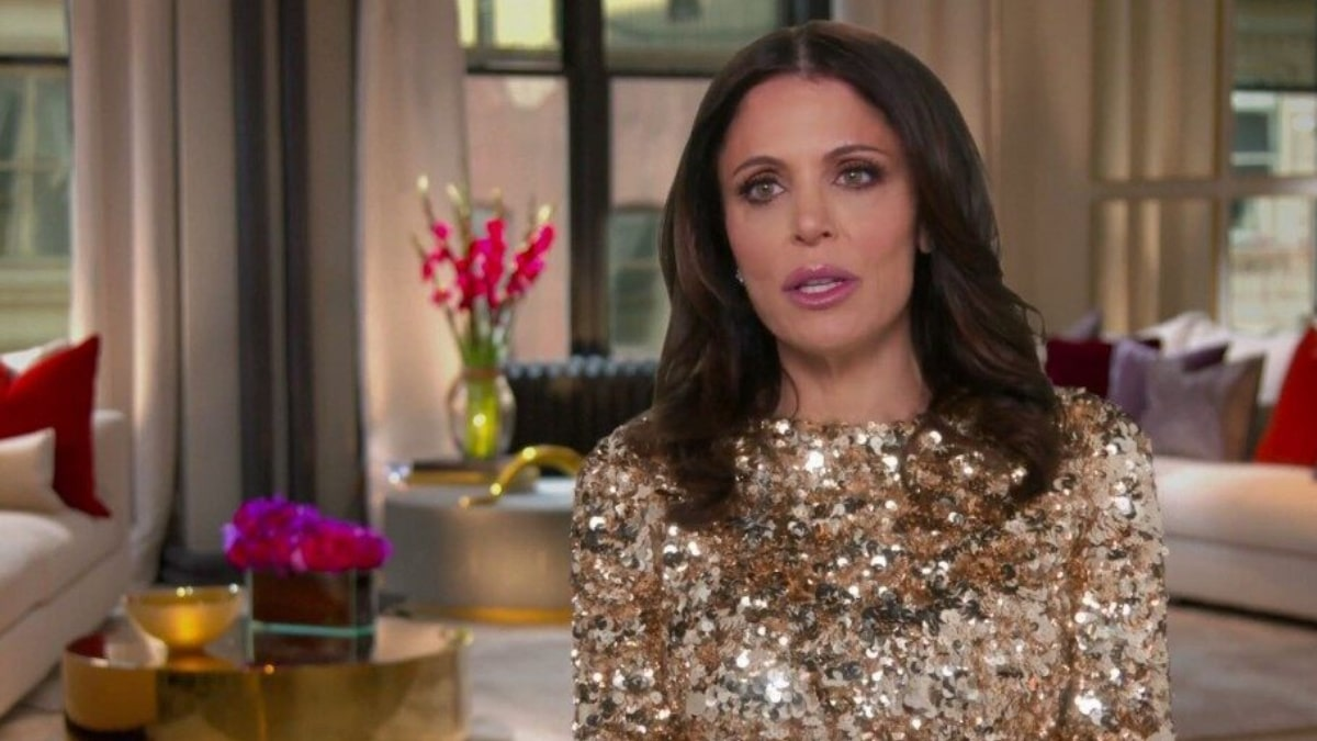 Bethenny Frankel in the confessional on The Real Housewives of New York