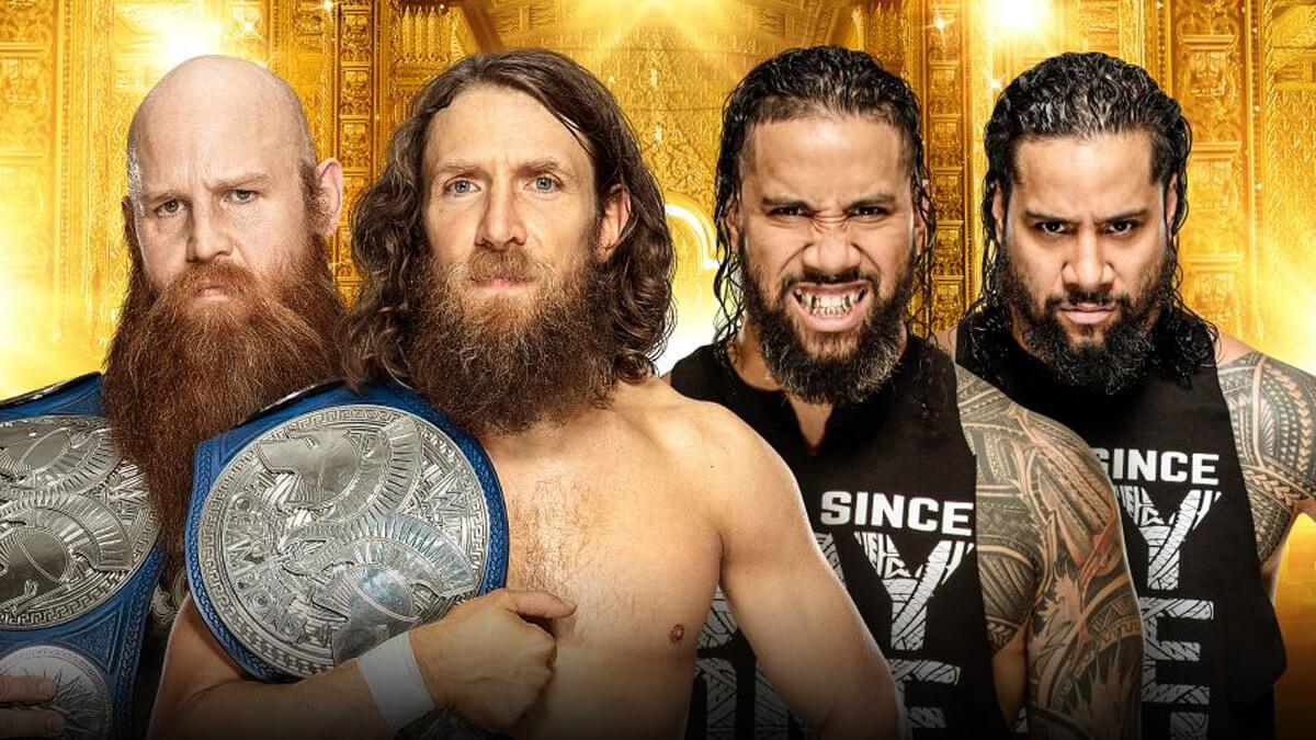 SmackDown Tag Team Champions Daniel Bryan & Rowan vs. The Usos