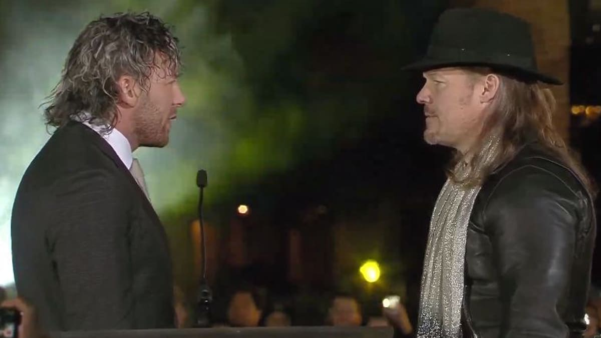 Chris Jericho faces off with Kenny Omega at AEW Double or Nothing.