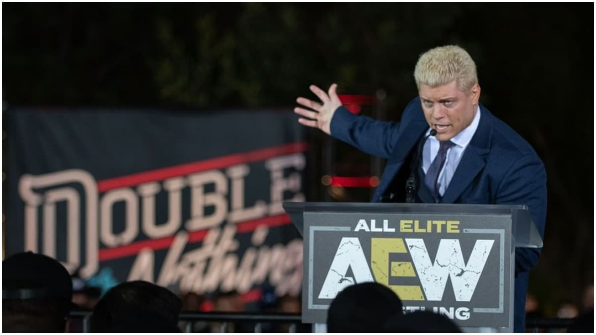 Cody Rhodes announces AEW Double or Nothing.