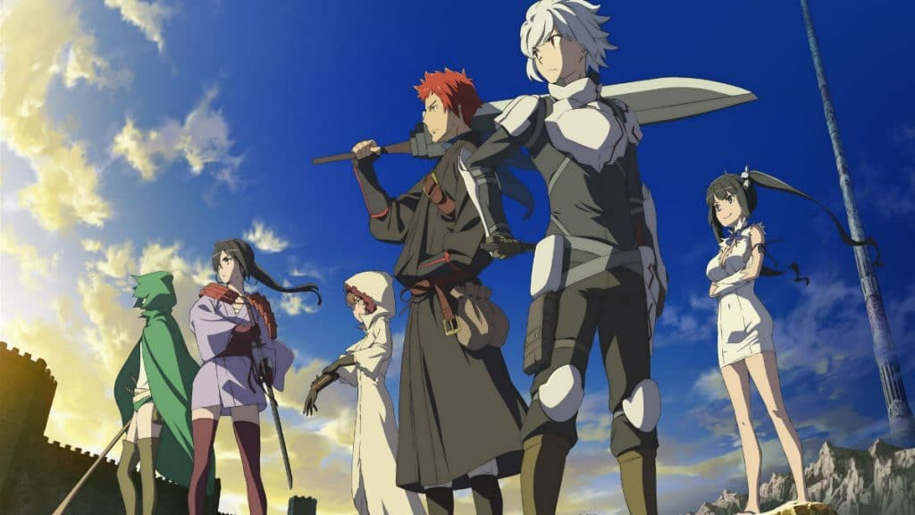 DanMachi Season 2 anime's power levels for Bell Cranel compared to the Is It Wrong to Try to Pick Up Girls in a Dungeon? movie by light novel author Fujino Omori