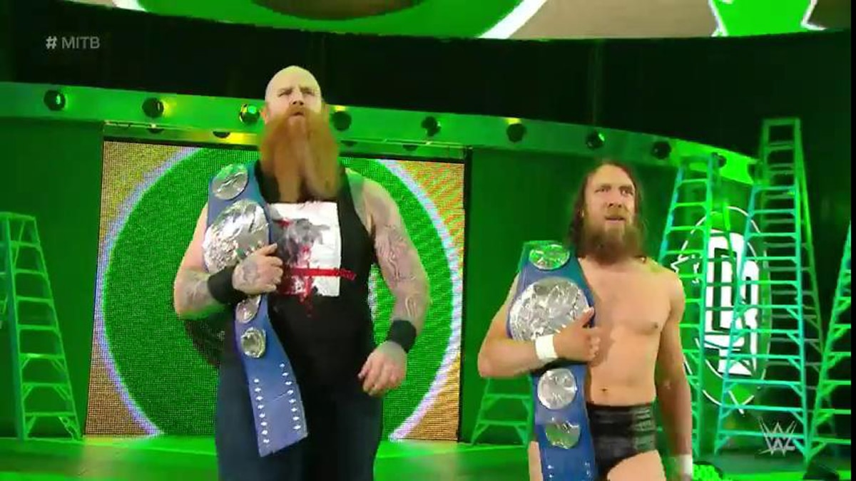 Daniel Bryan and Rowan at Money in the Bank 2019