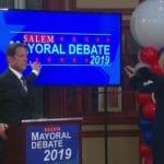 The mayoral debates in Salem.