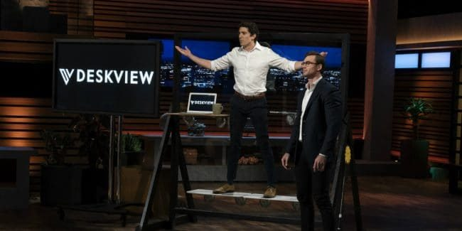 Michael Bolos and Jason Grohowski present Deskview on Shark Tank