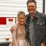 Emily Ann Roberts and Blake Shelton pose for a photo together.